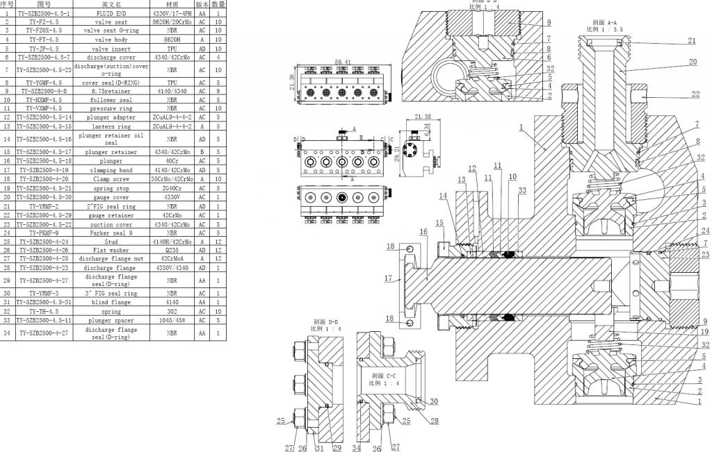 QWS2500 FLUID END PARTS