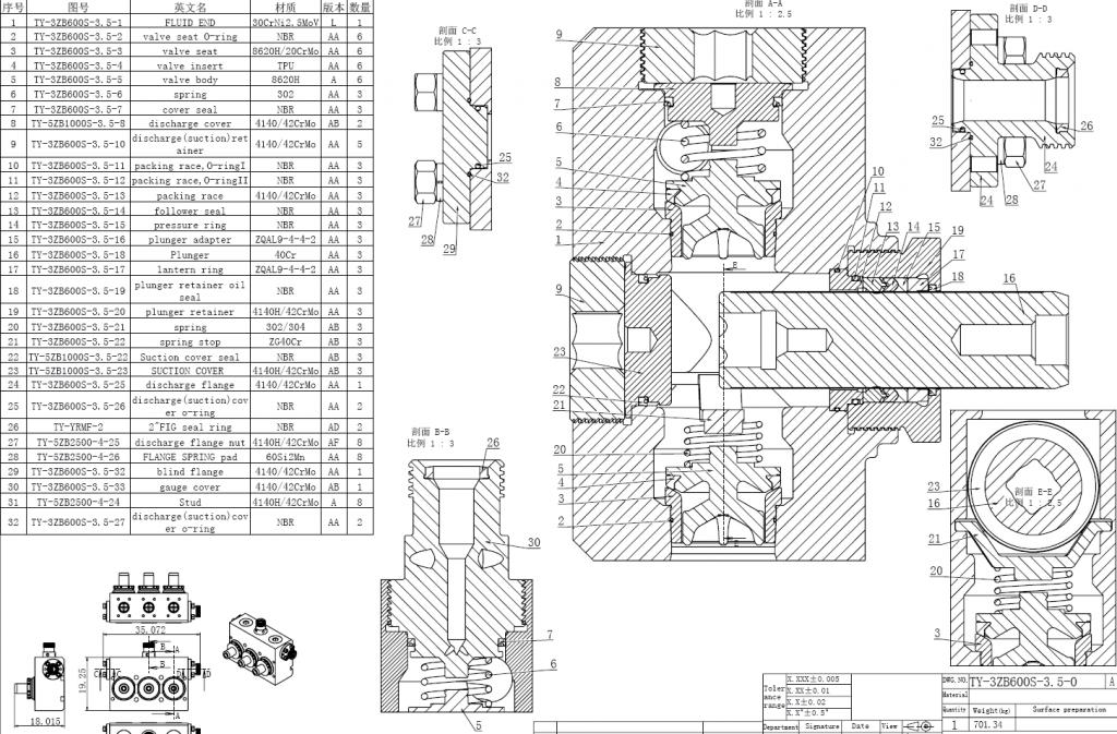 tws600 fluid end parts